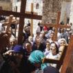 Carrying crosses on the Via Dolorosa